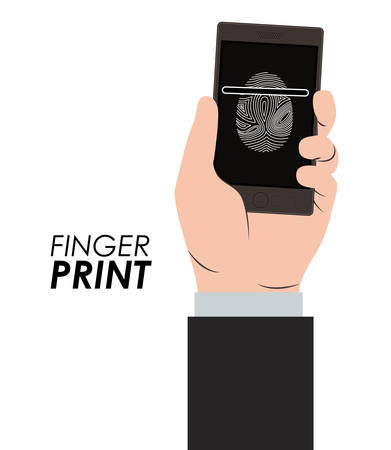 dactylogram: Fingerprint design over white background, vector illustration Illustration