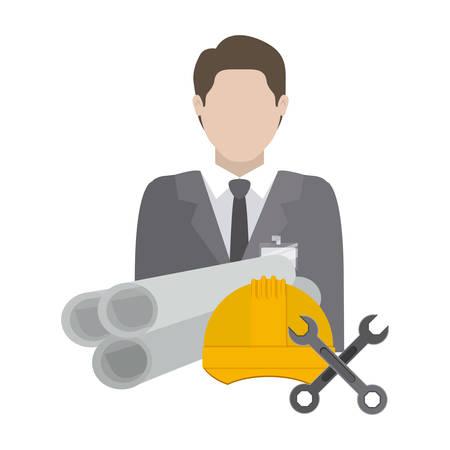 Under construction design over white background, vector illustration Illustration