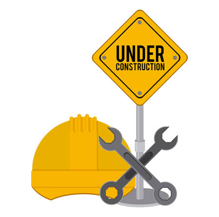 Under construction design over white background, vector illustration Illustration