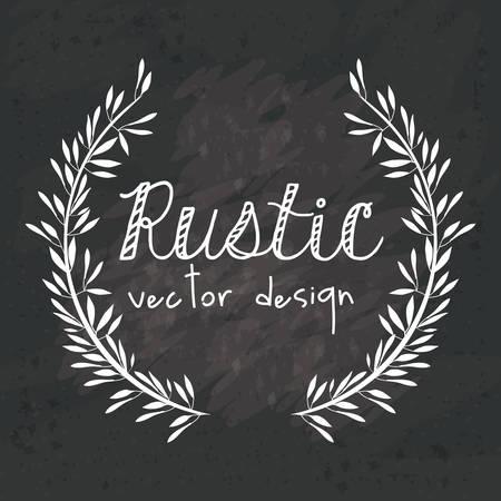 Rustic design over black grunge background, vector illustration