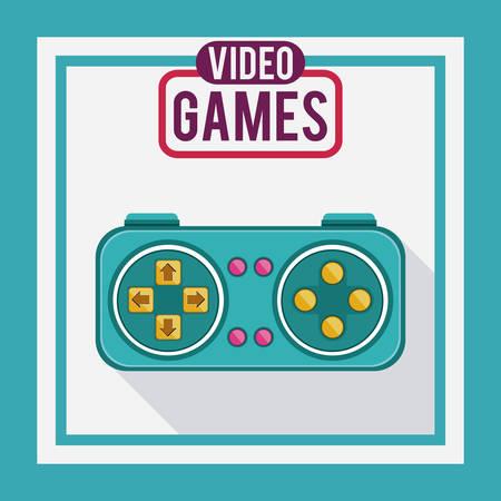 videogame: Video games design over blue background, vector illustration