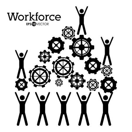 workforce: Workforce design over white background, vector illustration