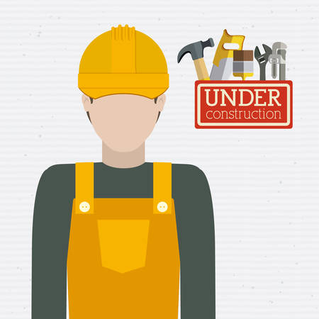 warning saw: Tools design over white background, vector illustration