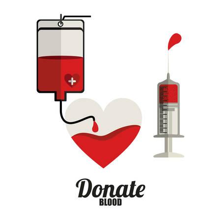 blood donation: Blood donation design over white background, vector illustration