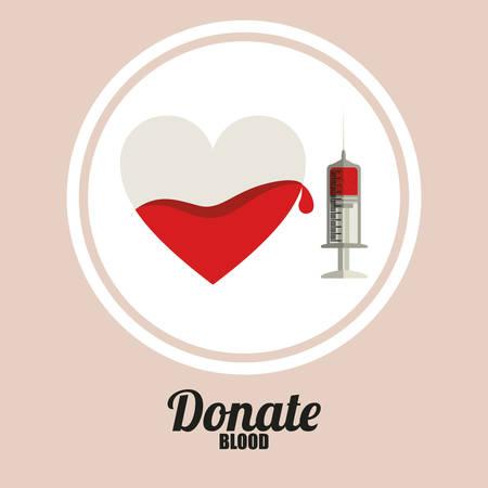 blood donation: Blood donation design over pink background, vector illustration
