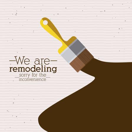 Under construction design over white background, vector illustration Vectores