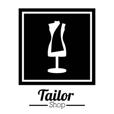 tailored: Tailor shop digital design, vector illustration eps 10