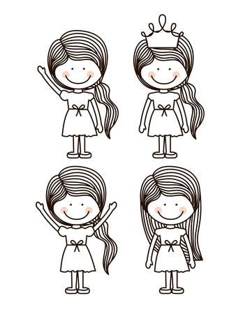 strive: Encourage kids design over white background, vector illustration Illustration