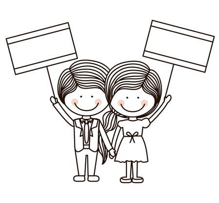and encourage: Encourage kids design over white background, vector illustration Illustration