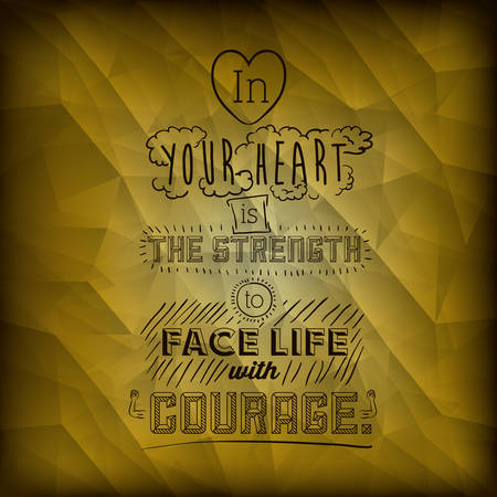 encourage: encourage quotes design, over  yellow background, vector illustration