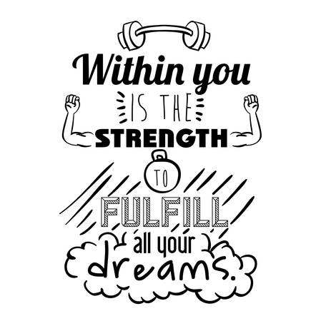 encourage quotes design, over white background, vector illustration