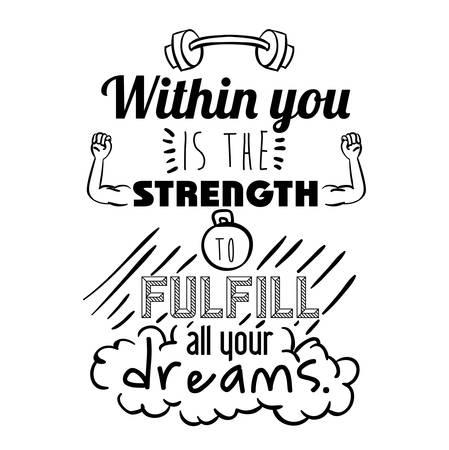encourage quotes design, over white background, vector illustration Banco de Imagens - 42134872