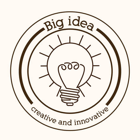 invent clever: Big idea digital design, vector illustration eps 10