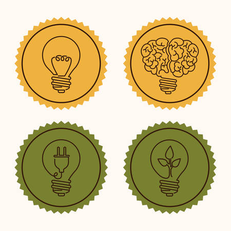 mental object: Big idea digital design, vector illustration eps 10