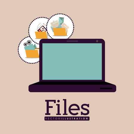 File digital design, vector illustration eps 10