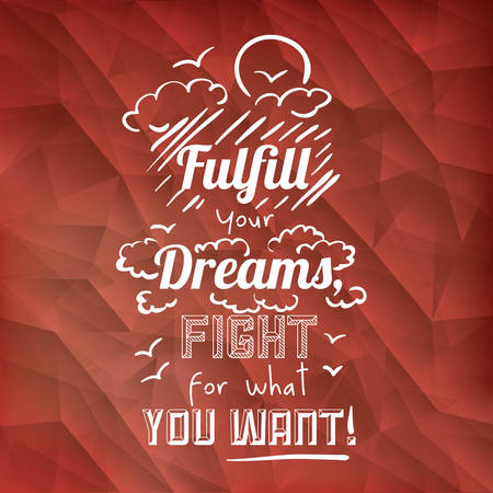 encourage: encourage quotes design, over  red background, vector illustration