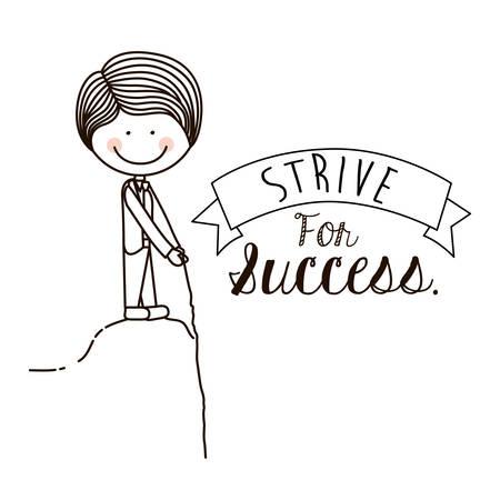 encourage: Encourage kids design over white background, vector illustration Illustration