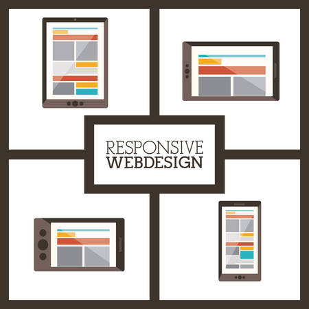responsive design: Responsive web digital design, vector illustration eps 10