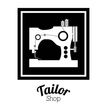 tailor shop: Tailor shop digital design, vector illustration eps 10