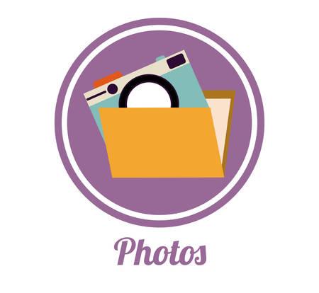 folder icon: File digital design, vector illustration eps 10