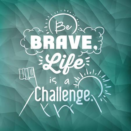 encourage: encourage quotes design, over  blue background, vector illustration