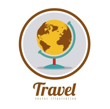 Travel digital design, vector illustration eps 10