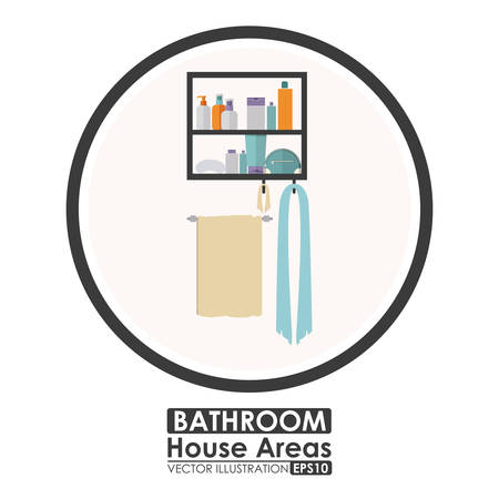 residential neighborhood: House areas digital design, vector illustration eps 10