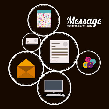 Communication digital design, vector illustration eps 10