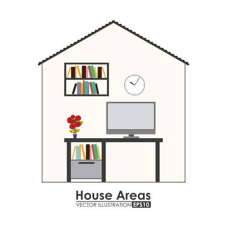 areas: House areas digital design, vector illustration eps 10