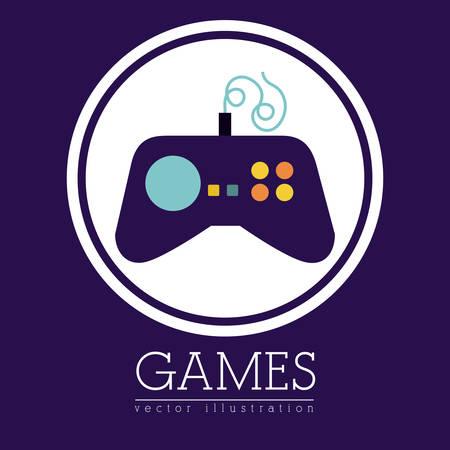 videogame: Video game digital design, vector illustration eps 10