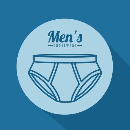 slip homme: conception numérique Underwear, illustration vectorielle eps 10