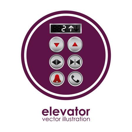 brushed steel: Elevator digital design, vector illustration eps 10