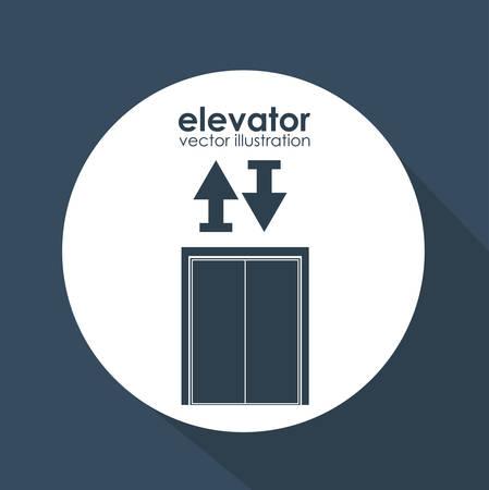 lift gate: Elevator digital design, vector illustration eps 10