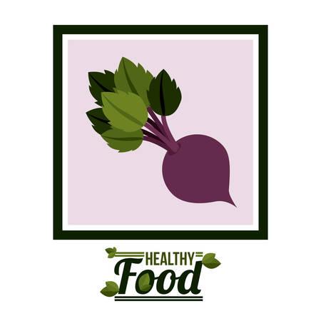 alimentacion sana: Dise�o digital comida saludable, ilustraci�n vectorial eps 10