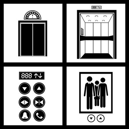 Elevator digital design, vector illustration eps 10