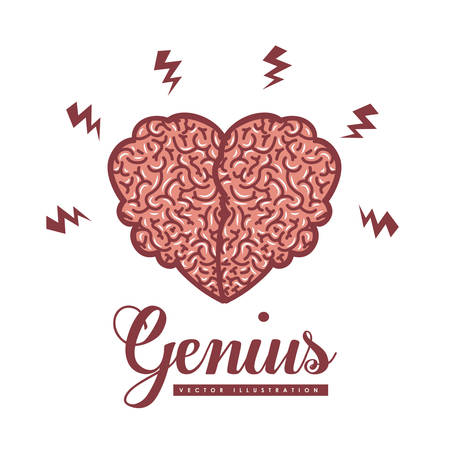 invent clever: Brain digital design, vector illustration eps 10