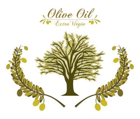 vitamines: Olive Oil digital design, vector illustration eps 10