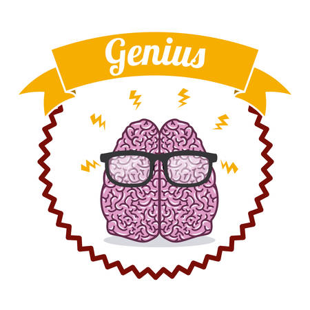 brain illustration: Brain digital design, vector illustration eps 10