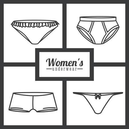 ropa interior: Diseño digital de la ropa interior, ilustración vectorial eps 10