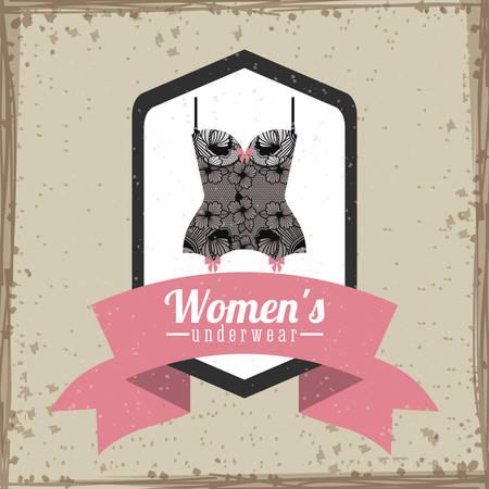 femme en sous vetements: conception num�rique Underwear, illustration vectorielle eps 10