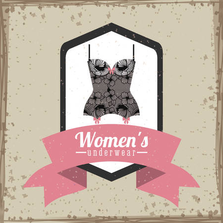 ladies underwear: Underwear digital design, vector illustration eps 10