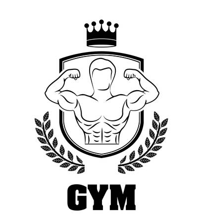 sport man: Gym digital design, vector illustration eps 10