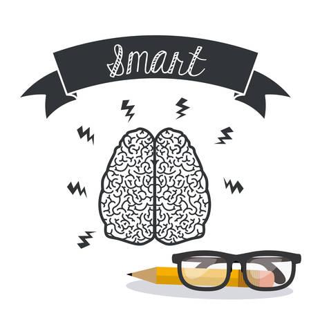 brain illustration: Brain digital design, vector illustration