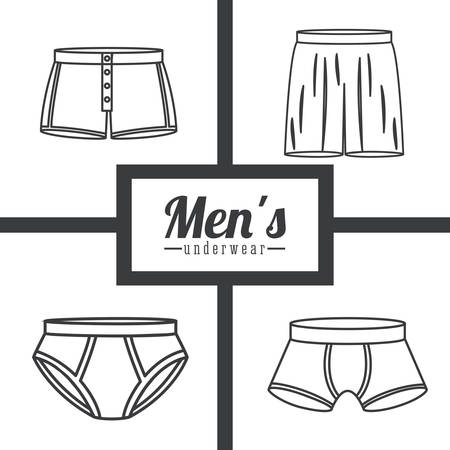 underwear man: Conception num�rique Underwear, illustration vectorielle Illustration