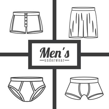 underwear: Underwear digital design, vector illustration