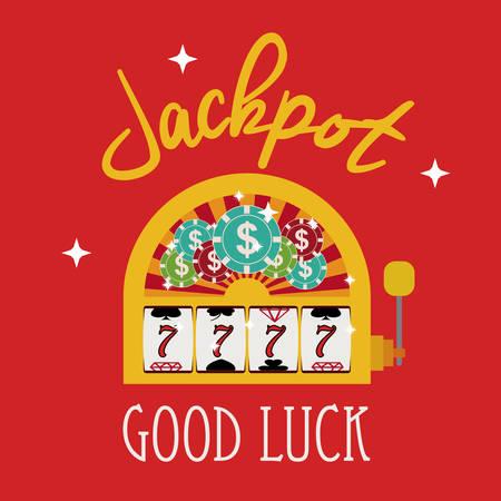 tragamonedas: Diseño digital Jackpot, ilustración vectorial