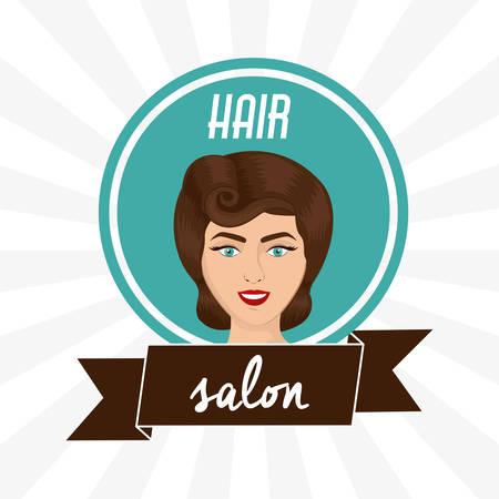 hairstylist: Hair Salon digital design, vector illustration eps 10 Illustration