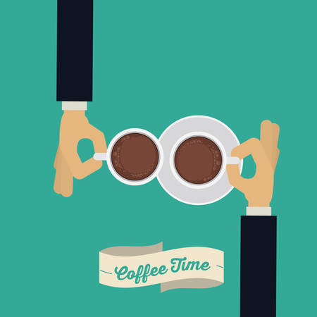 coffee time: Coffee time digital design, vector illustration