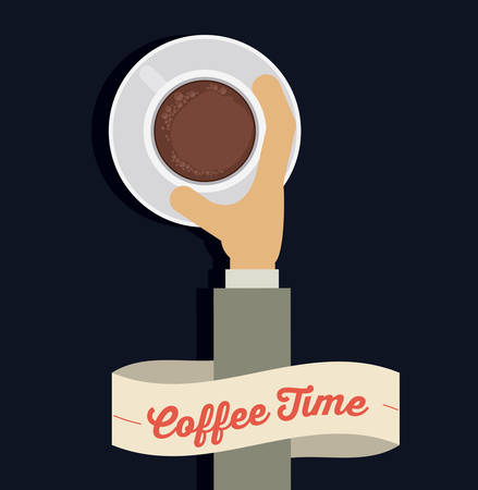 coffee time: Coffee time digital design, vector illustration eps 10