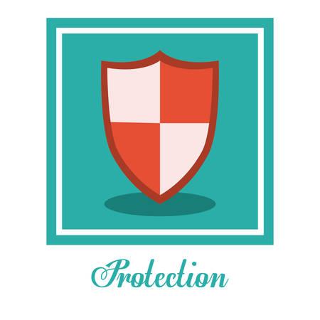 value system: Protection digital design, vector illustration eps 10 Illustration